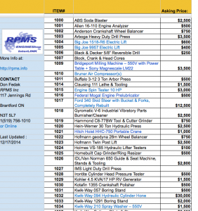 Price List Image